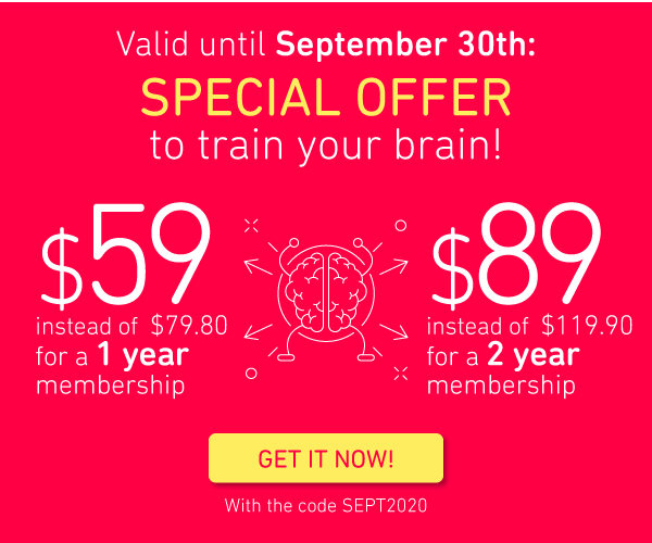 Valid until September 30th, take care of your neurons at a lower price!