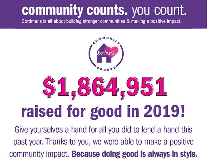 Community counts. You count.