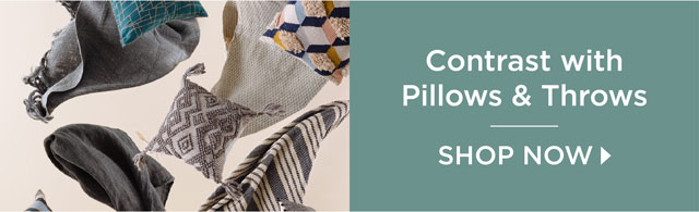 Contrast with Pillows and Throws - Shop Now