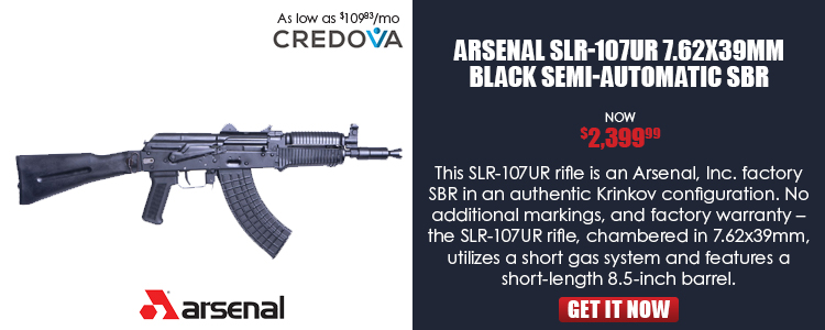 SLR-107UR Factory SBR (Krinkov), 7.62x39mm, stamped receiver, short gas system, front sight/gas bloc