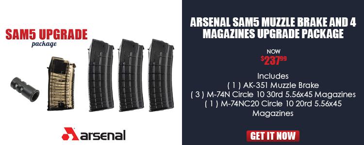 Arsenal SAM5 Muzzle Brake and 5 Magazines Upgrade Package