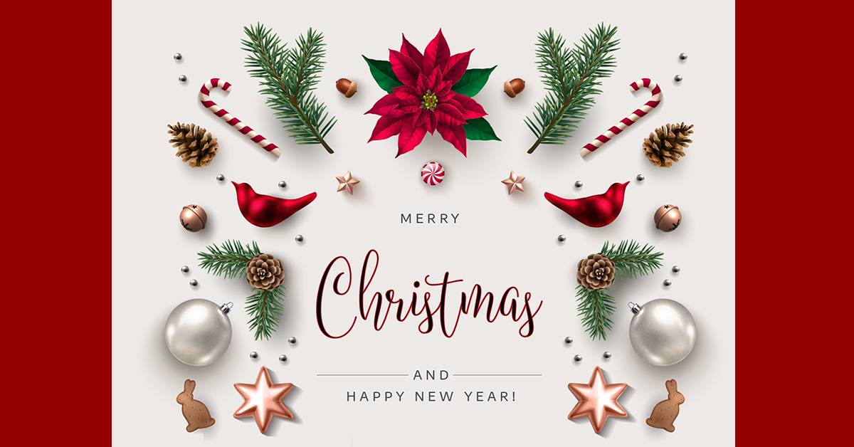 an image of christmas and happy new year greeting card