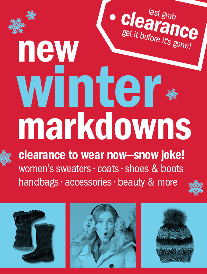 new winter markdowns