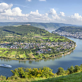 Panoramic view of the river Rhine