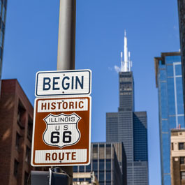 Photo of Route 66 sign