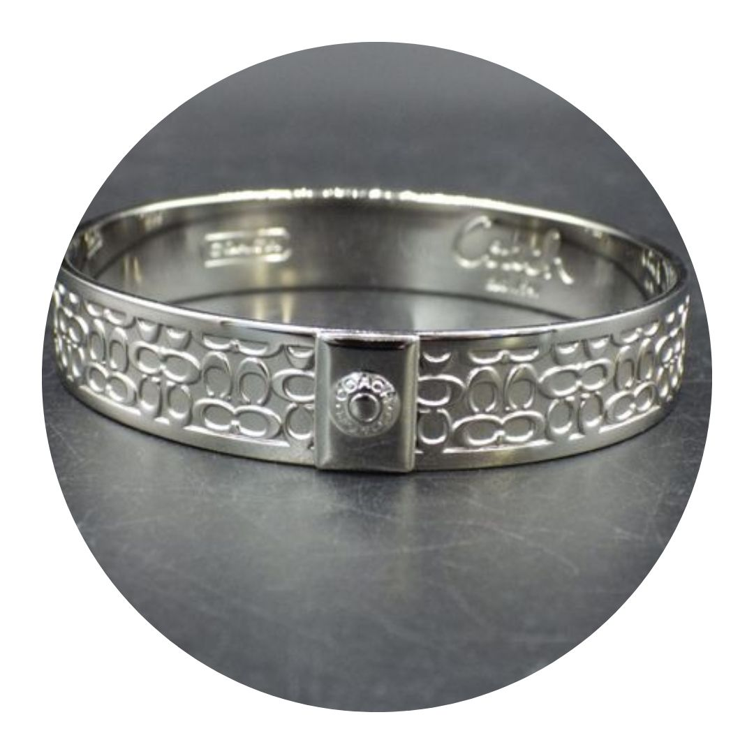 Coach Signature Silver Tone Bracelet