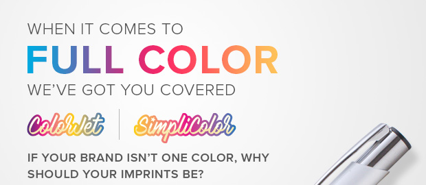 If your brand isn't one color, why should your imprints be?