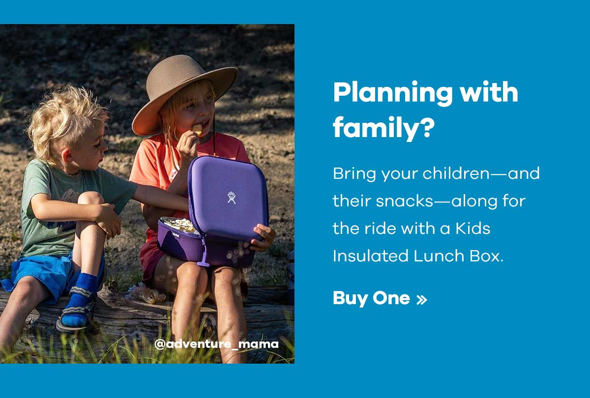 @adventure_mama - Planning with family? - Bring your children-and their snacks-along for the ride with a Kids Insulated Lunch Box. | Buy One >>