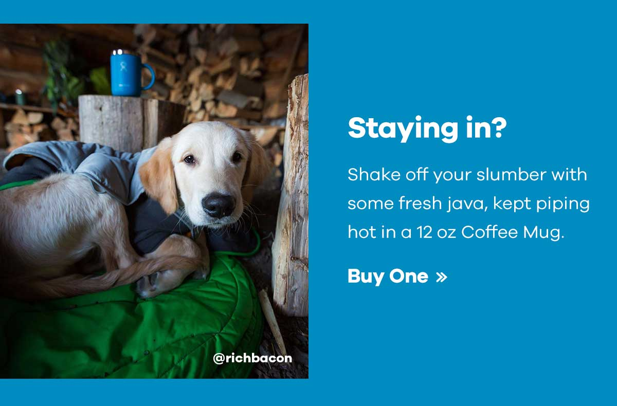 @richbacon - Staying in? Shake off your slumber with some fresh java, kept piping hot in a 12 oz Coffee Mug. | Buy One >>