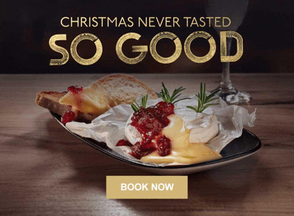 CHRISTMAS NEVER TASTED SO GOOD