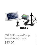 330L/H Fountain Pump