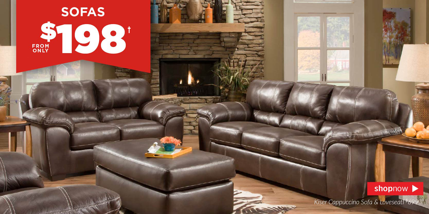 Sofa from $198!