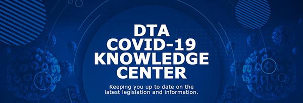 COVID-19 DTA Website banner
