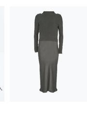 Khaki Layered Slip Knit Dress