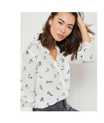 Erica Shoe Print Shirt