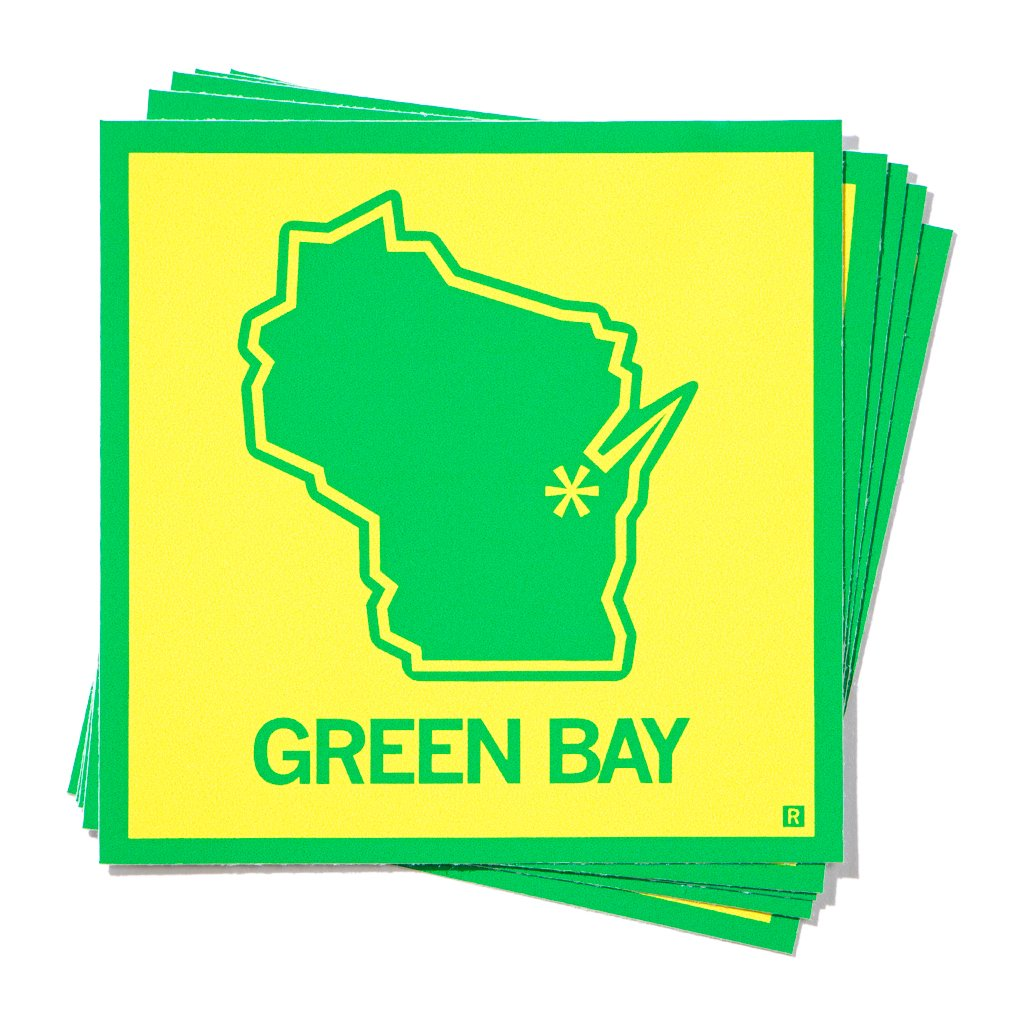 Green Bay, Wisconsin Outline Sticker