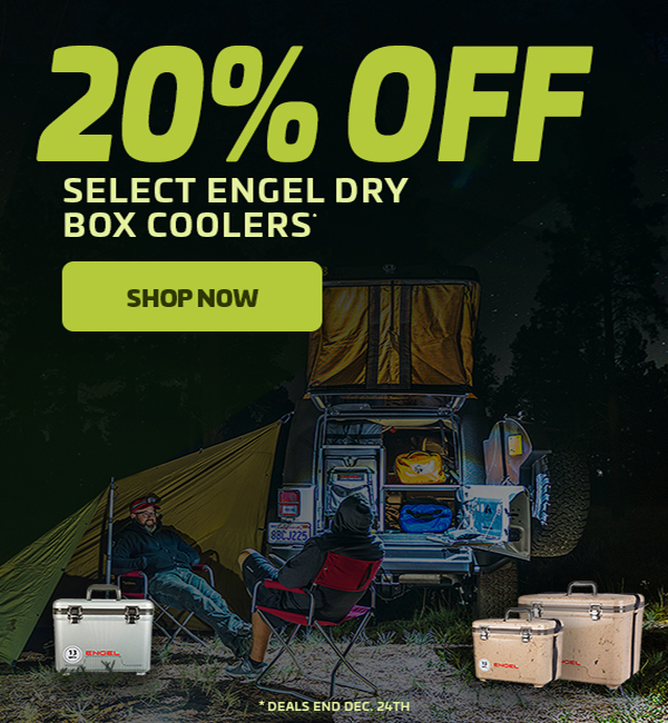 20% Off Select Engel Dry Box Coolers