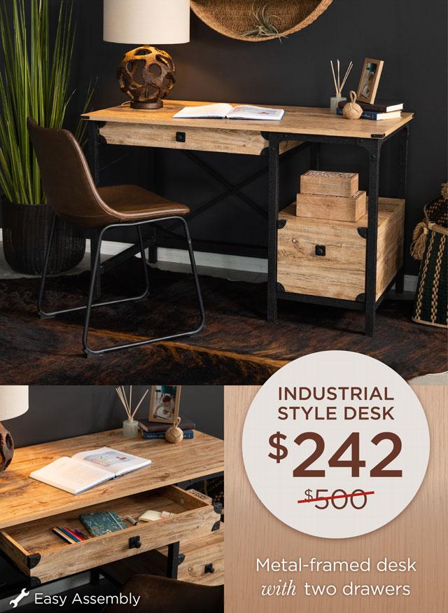 Industrial Style Desk - $242