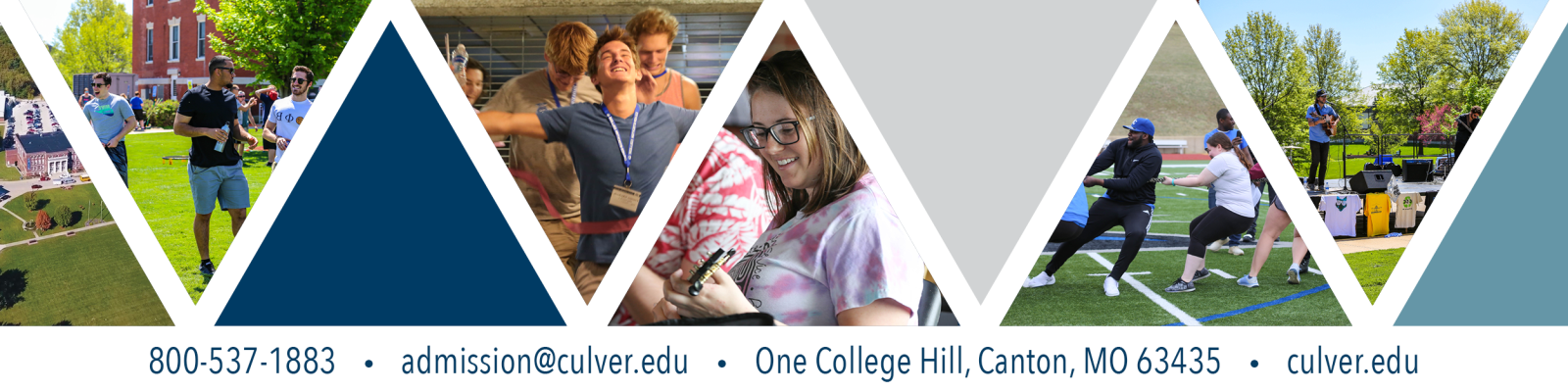 573-288-6000 admission@culver.edu One College Hill, Canton, MO 63435 culver.edu