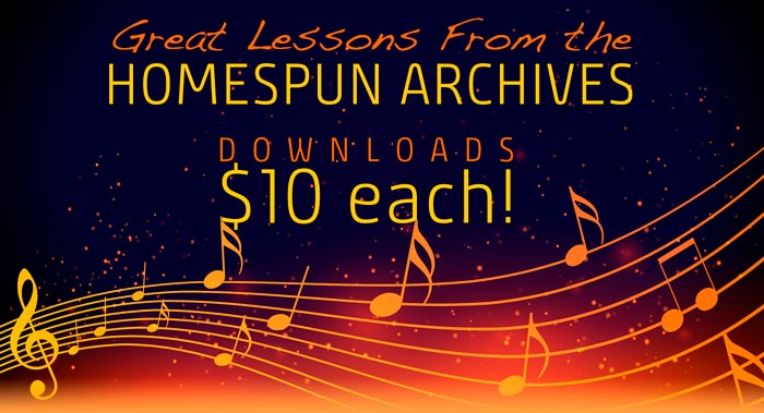 Homespun Archives - $10 for each of these downloads