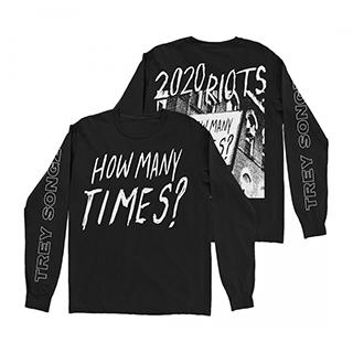 Trey Songz - 2020 Riots Black Long Sleeve T-Shirt Image