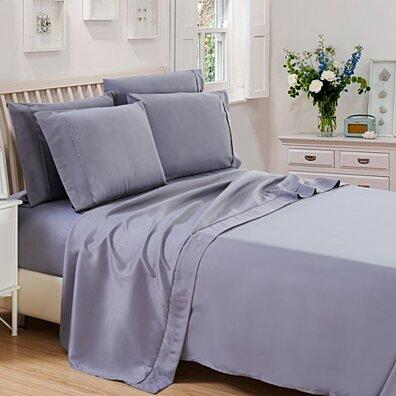 6-Piece 1800 Series Deep Pocket Egyptian Cotton Bed Sheet Set