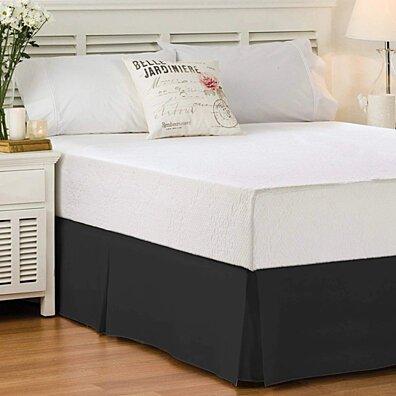 Bed Skirt Long Staple Fiber - Durable & Quadruple Pleated (Multiple colors)