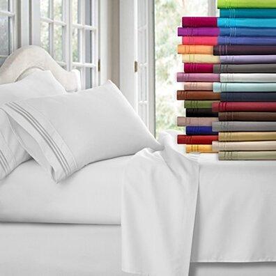 4-Piece 1800 Series Ultra-Soft Brushed Microfiber Deep Pocket Bed Sheet Set