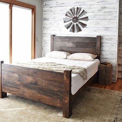 Wood Bed Frame, Platform Bed, Queen Bed, King Headboard, Modern Farmhouse, Bedroom Furniture, Platform Bed, Bed Frame, Wood Headboard Queen