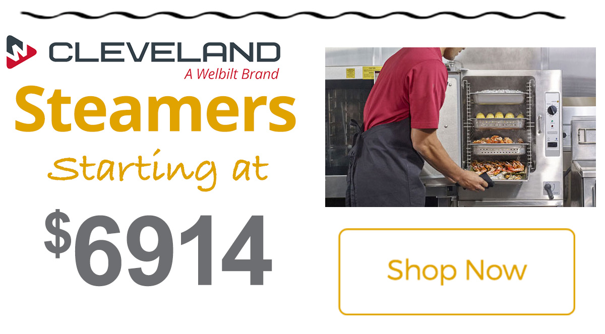 Cleveland Range Steamers starting at $6914!