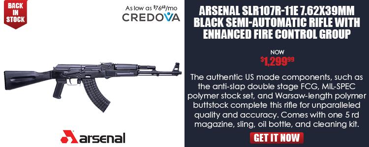 Arsenal SLR107R-11E 7.62x39mm Black Semi-Automatic Rifle with Enhanced Fire Control Group