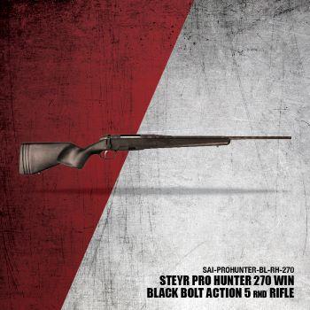 Steyr Pro Hunter Black RH .270 23.6-in Barrel