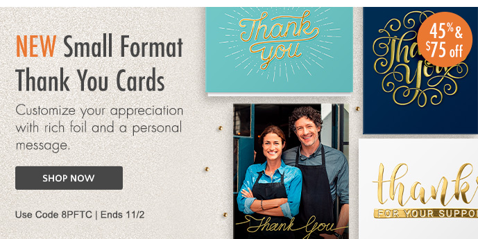 NEW Small Format Thank You Cards