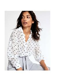 Spot Print Oversized Shirt