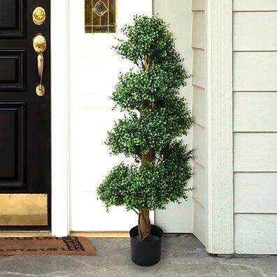 48 inch Pure Garden Boxwood Spiral Tree