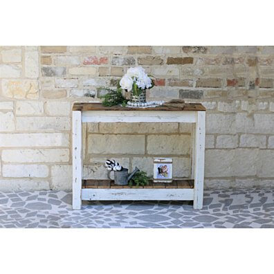 White Combo Console Table