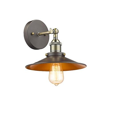 CHLOE Lighting IRONCLAD Industrial style 1 Light Rubbed Bronze Wall Sconce 9