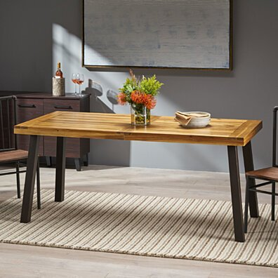 Daria Natural Stained Acacia Wood Dining Table