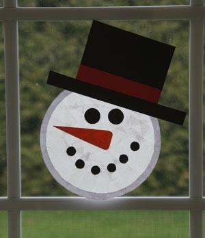 Sun Catcher Snowman Craft