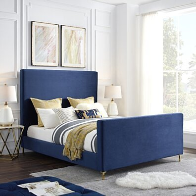 Kynthia Linen Bedframe - Queen or King | Upholstered | Modern and Contemporary | Inspired Home