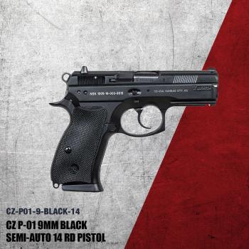 CZ75 P01 Black 9mm 15rd -91199