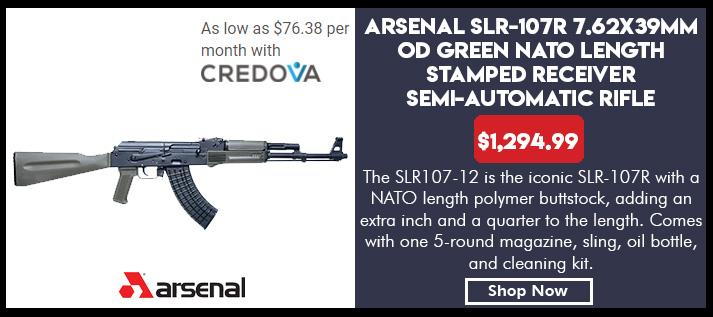 SLR-107R - 7.62x39 caliber OD Green furniture fixed Nato stock 5 round mag
