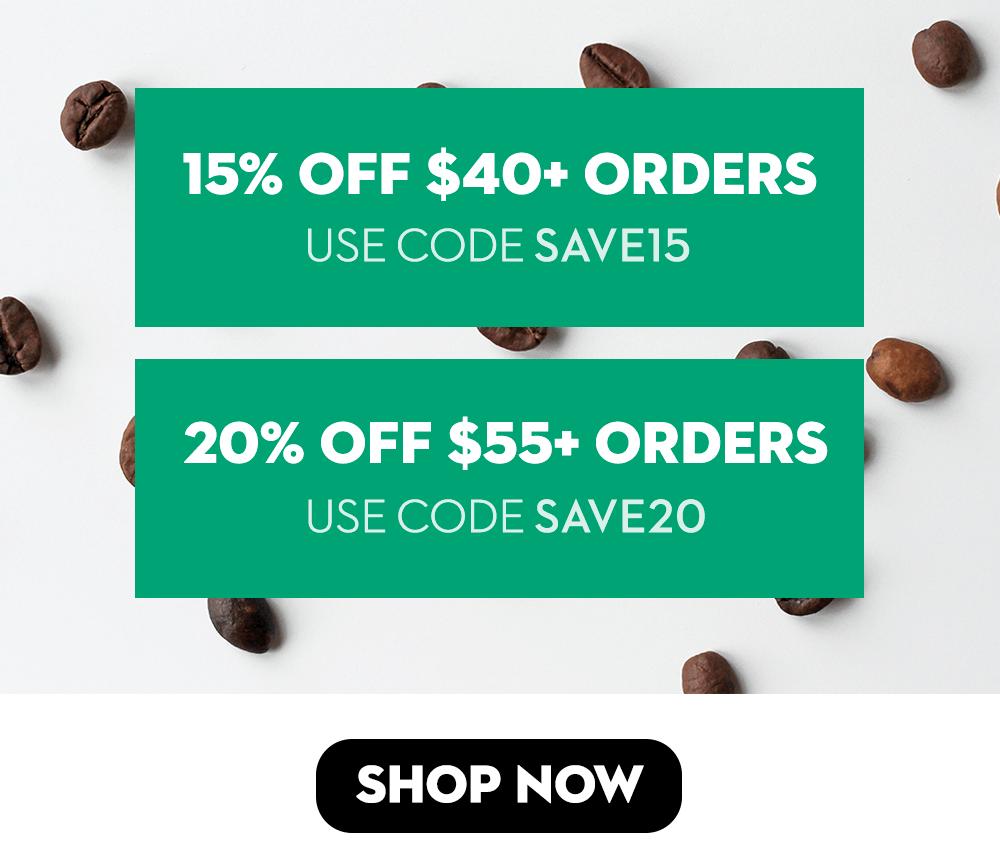 20% off $55+ Orders