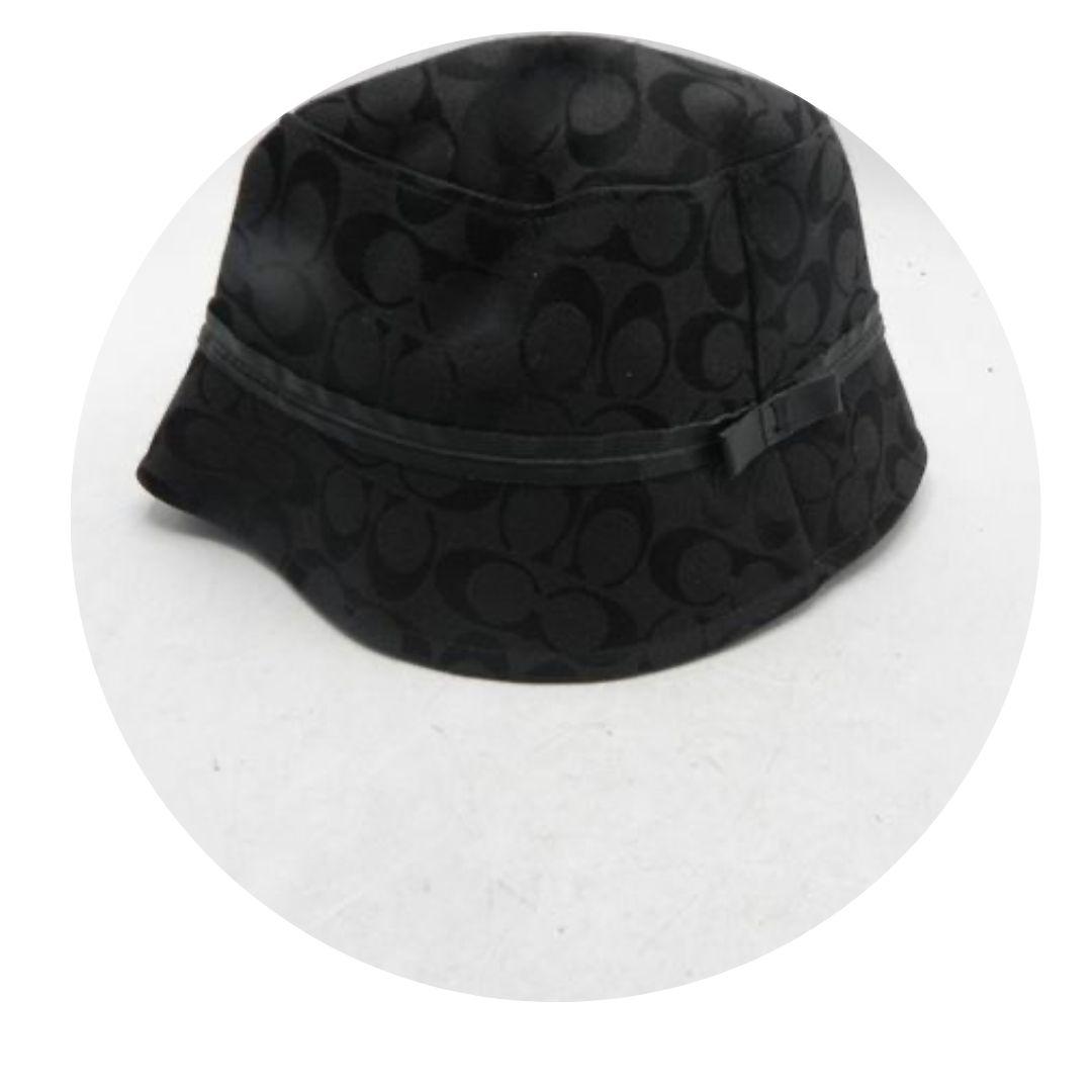 Coach Black Monogram Bucket Hat