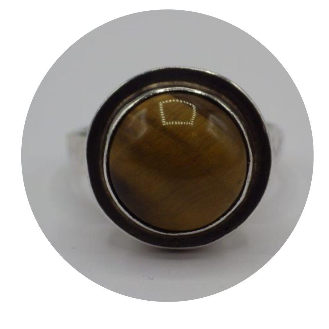 Sterling Silver Tiger's Eye Ring Size 7