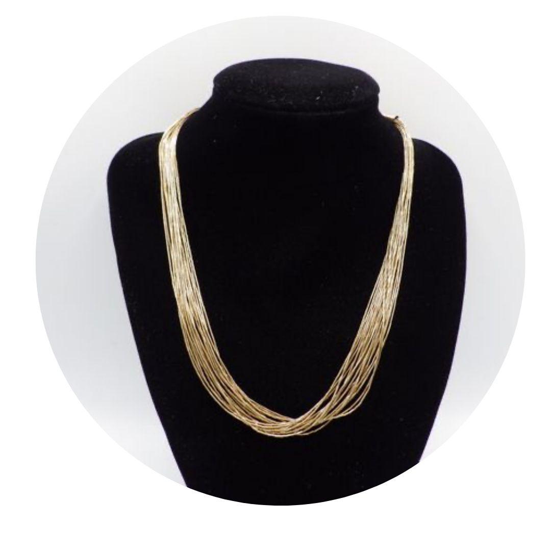 """17.5"""" Southwestern 12k G. F. 20 Strand Necklace"""
