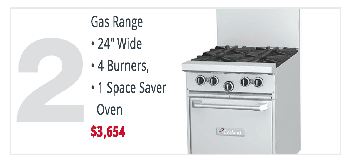 "Short on space? This 24"" wide range is a perfect fit!"