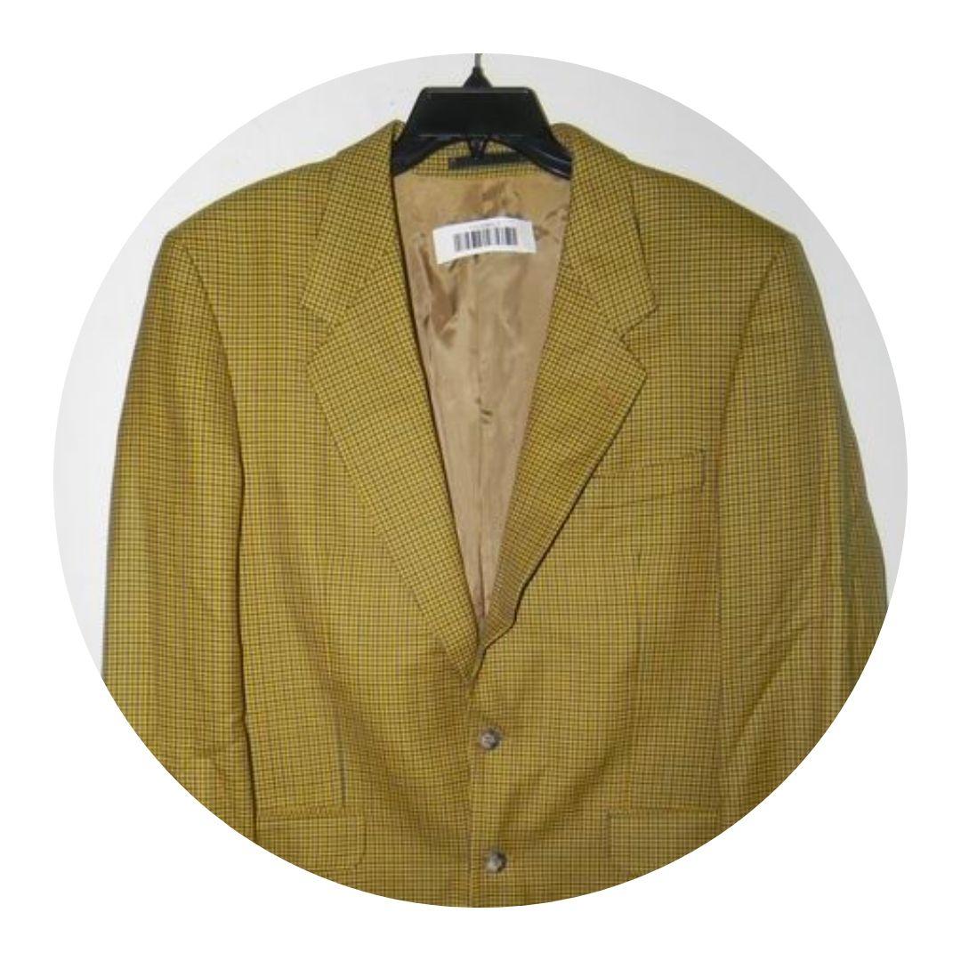 Yves Saint Laurent Men's Jacket Mustard Yellow