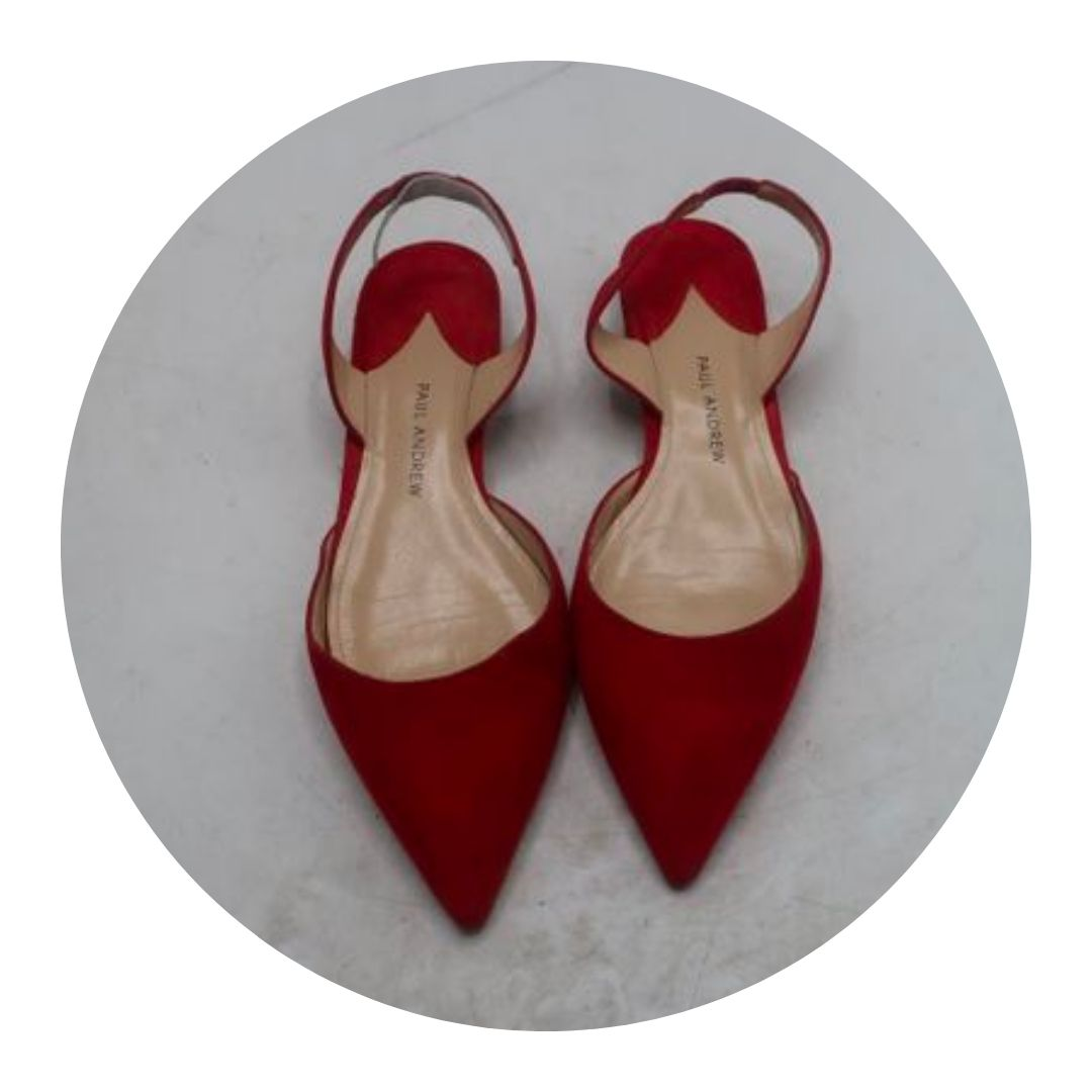 Paul Andrew Red Slingback Shoes