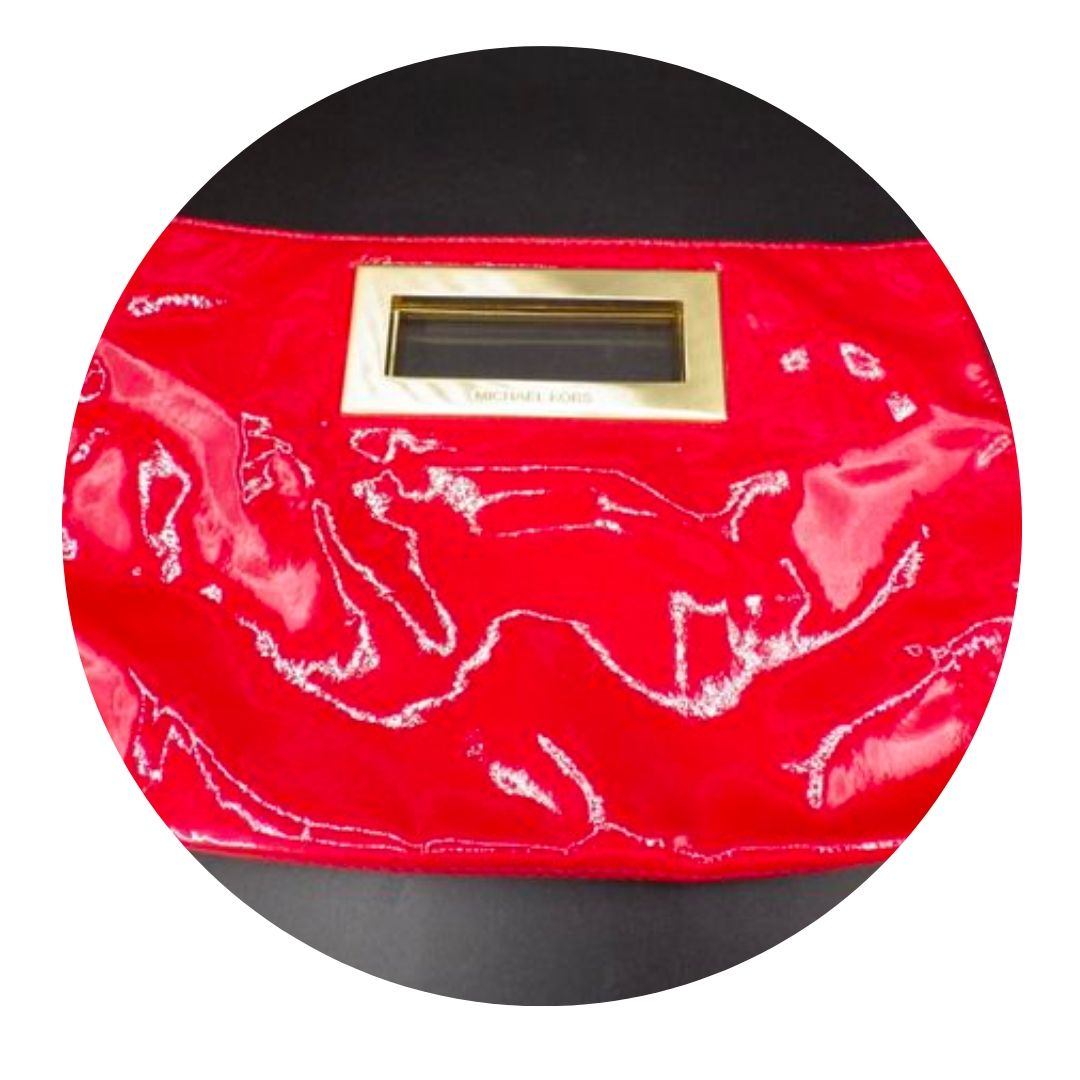 Michael Kors Red Patent Leather Clutch